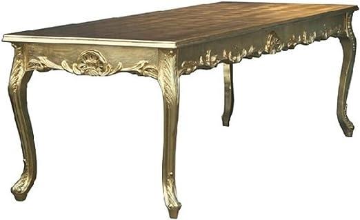 Casa Padrino Barock Esstisch Gold 200cm Esszimmer Tisch