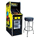 """Namco Pac-Man Pixel Bash Chill Home Upright with 30"""" Pac-Man Stool"""