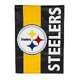 Team Sports America Pittsburgh Steelers Embellish Reg Flag, Multicolor