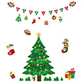 Christmas Decal,Christmas Tree Stickers Window Clings PVC Wall Stickers for Windows Home Shop(Christmas Tree Stickers)