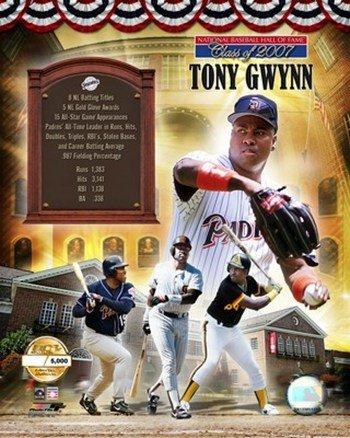 Tony Gwynn 2006 Hof Pf Gold Composite Limited Edition MLB Baseball Photo 8 x -
