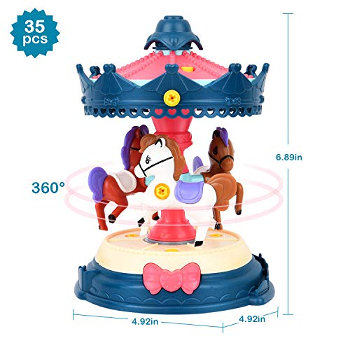 STEM Toys, DIY Toy Building Sets Amusement Park with Tool (203 Pcs), Educational Construction Engineering Building Blocks Toys Set for 3 4 5 6 Year Old Boys & Girls | Best Birthday Gifts for Kids