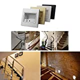LEDIARY 6-Pack LED Stair Light Recessed Wall Lamp