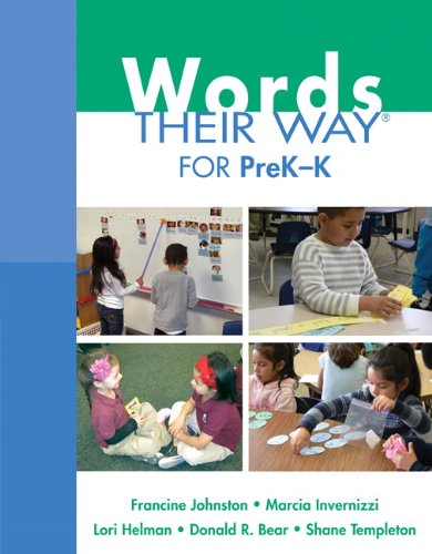 Words Their Way for PreK-K (Words Their Way Series) (Foundations Of Early Childhood Education 5th Edition)