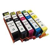 INKMATE 5 Pack ( BK / PB / M / C / Y ) Show Ink Level Remanufactured Ink Cartridge for 564 XL 564XL Photosmart 7510 7520 B8550 C6340 C6350 C6380 D5445 D7560 D5460
