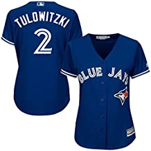 sho_Blue Jays Womens Troy_Tulowitzki 2# Jersey sports Royal Toronto Baseball