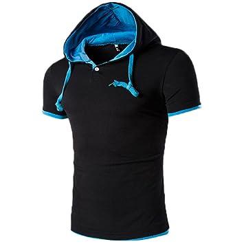 Camiseta Hombres, Manadlian Hombres de manga corta Moda de verano camiseta Sudadera con capucha: Amazon.es: Deportes y aire libre