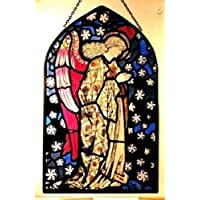 Decorativa pintada a mano Vidriera Iglesia en forma