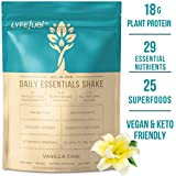 LYFE FUEL Meal Replacement Shake   Keto, Vegan & Gluten Free Plant Based Protein + Organic Superfood Greens   Vanilla Chai   18g Rice + Pea Protein   28 Meals