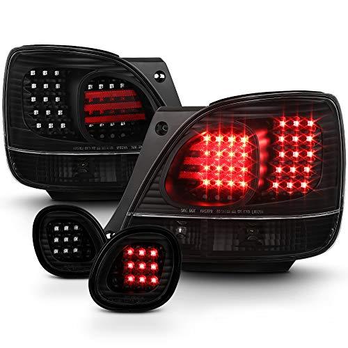 - ACANII -For 4pcs Blk 1998-2005 Lexus GS300 GS400 GS430 Lumiled LED Tail Lights/Trunk Lamps Taillights Driver+Passenger