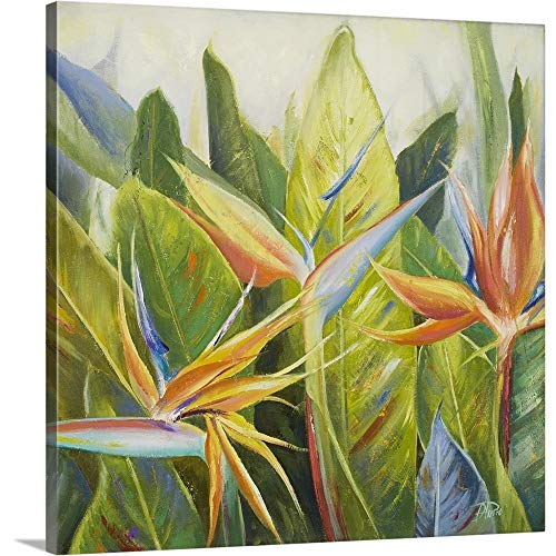 Hawaii State Bird And Flower - Bird of Paradise I Canvas Wall Art Print, 16
