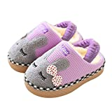 SITAILE Cute Home Shoes, Kids Fur Lined Indoor