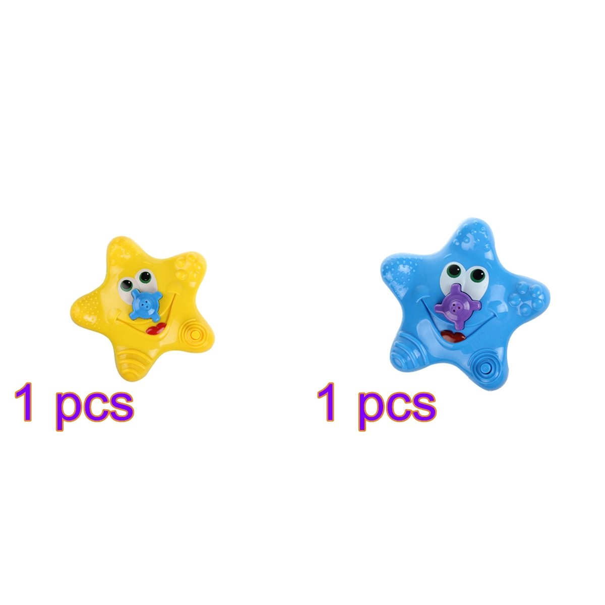 Lulalula Lulalula - 2 juguetes de ducha flotantes para bebé, diseño de estrella de mar