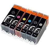6 Canon Pixma PGI-550 XL CLI-551 XL FCI Printer Ink Cartridges for MG6350, MG7150, MG7550, ip8750 printer inks