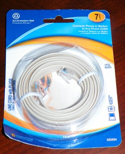 Southwestern Bell 6-conductor Phone Line Cord with Plugs ...