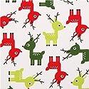 トナカイ柄の白いコットンクリスマス生地 Jingle 3 by Robert Kaufmanの商品画像