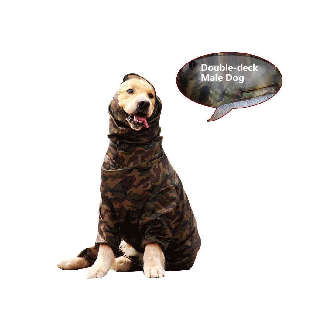 34 Pet Travel Bag Mr. Dog Dog Raincoat All Inclusive golden Hair Labrador Samoyed Waterproof Raincoat Camouflage Poncho (Size    34)