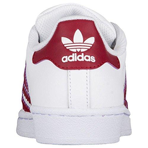 Adidas Originaler Superstjerne FunDamet J Sneaker Hvid / Bordeaux / Guld l38RrX