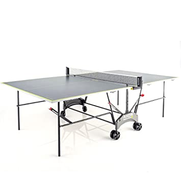 Kettler Tischtennisplatte AXOS Outdoor 1 U2013 Rollbarer TT Tisch Für Draußen U2013  Wetterfeste Alu