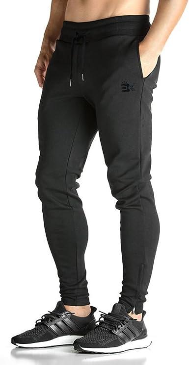 Broki Pantalón de Cremallera para Hombre Pantalones Casual ...