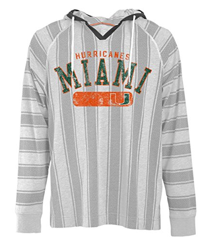 (Camp David NCAA Miami Hurricanes Men's Long Sleeved Pullover Hoodie, Medium, Charcoal Oxford)