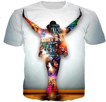 JJZHY Michael Jackson Disfraz impresión 3D Pareja Hombre y Mujer ...