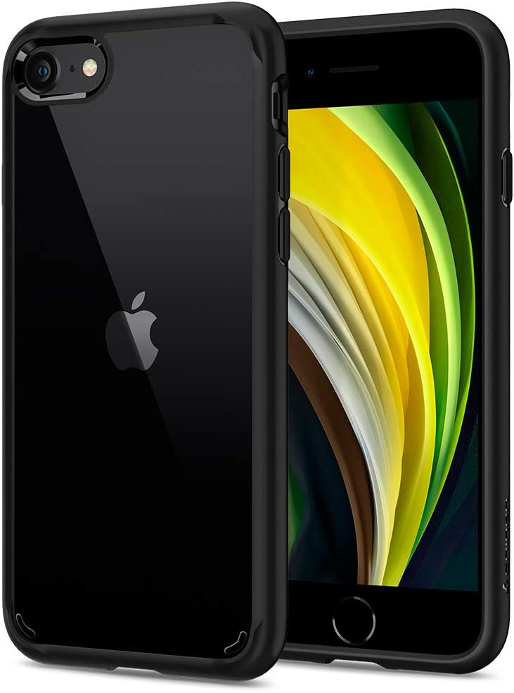 Spigen Funda Ultra Hybrid Compatible con iPhone SE 2020, Compatible con iPhone 8 y Compatible con iPhone 7 - Negro