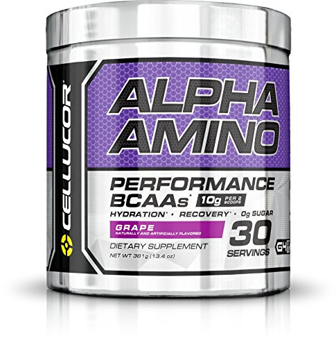 Cellucor Alpha Amino EAA & BCAA Recovery Powder, Essential & Branched Chain Amino Acids Supplement, Grape, 30 Servings