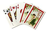 Happy New Year - Irish Woman About to Hit Golfball (Playing Card Deck - 52 Card Poker Size with Jokers)