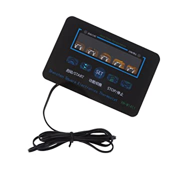 MagiDeal Termostato Digital Led Interruptor de Control de Temperatura de Salida 10a Herramientas Multiusos 220v