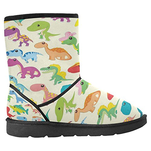 Snow Stivali Da Donna Di Interestprint Design Unico Comfort Invernale Stivali Adorabili Cartoon Dinosaur Collezioni Multi 1