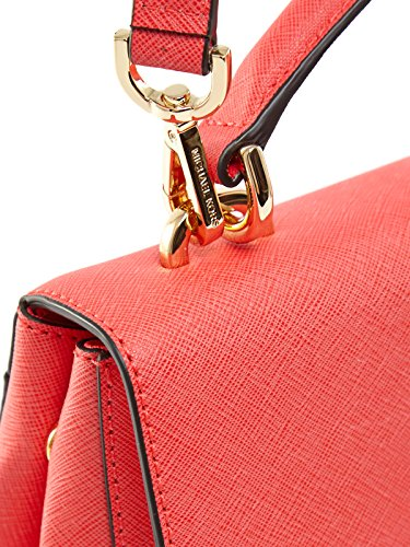 Borsa a mano Michael Kors Ava in pelle saffiano rosso corallo