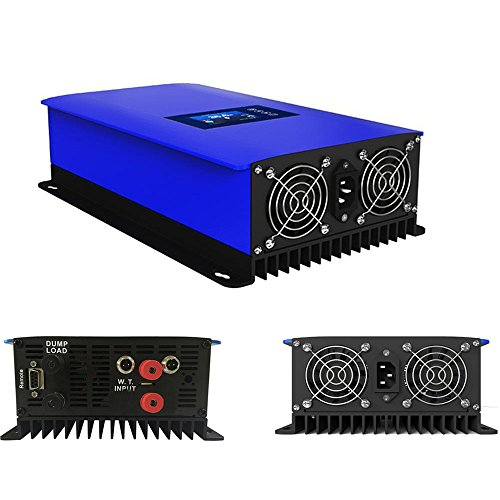 iMeshbean 1000W MPPT Wind Grid Tie Power Inverter Home Power Generator System DC 22-60V to AC 110V Pure Sine Wave with Dump Load.Built-in Limiter & WIFI APP Control Port USA -