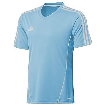 Adidas Climalite – Camiseta de fútbol de Entrenamiento Top Estro, Color - Azul y Blanco