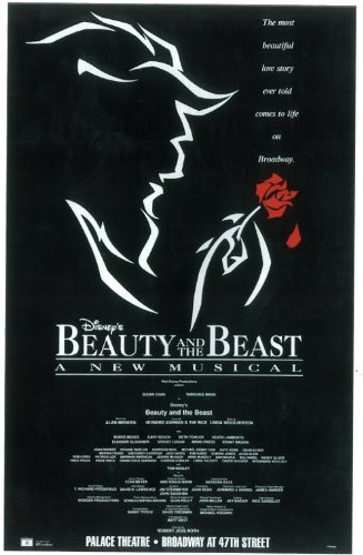 Beauty and The Beast Poster Broadway Theater Play 11x17 Terrence Mann Susan Egan Burke Moses MasterPoster Print, 11x17
