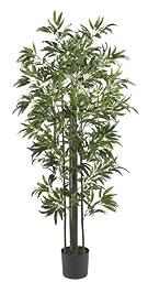 Nearly Natural 5294 Bamboo Silk Tree, 6-Feet, Green