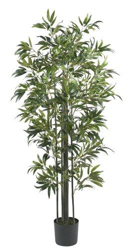Faux Bamboo Tree - Nearly Natural 5294 Bamboo Silk Tree, 6-Feet, Green