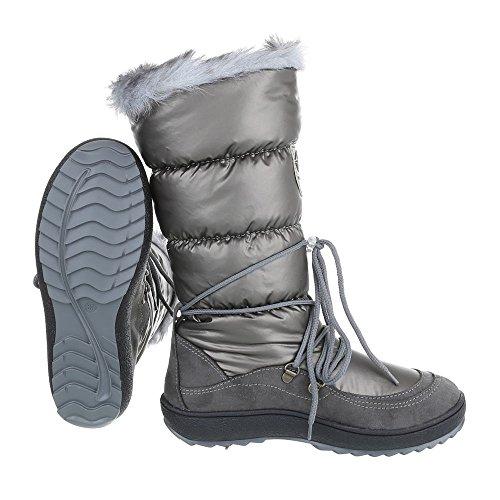Ital-Design - botas clásicas Mujer gris plateado