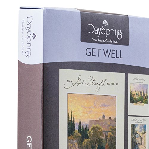DaySpring Get Well Greeting Cards w Embossed Envelopes - Thomas Kinkade, 12 Count Photo #8