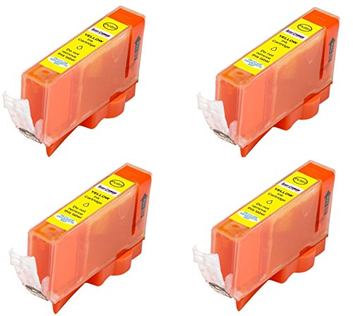 4 Pack Elite Supplies Compatible Inkjet Cartridge Replacement for Canon CLI-226 Yellow, Works With Canon PIXMA MG6120, PIXMA MG6220, Canon PIXMA MG8120, PIXMA MG8120B, PIXMA MG8220 (4 Yellow)