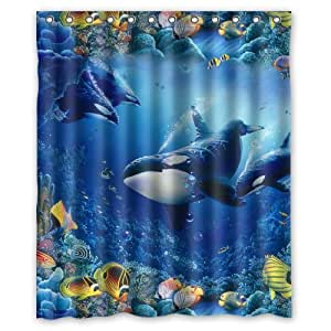 Generic Personalized Beautiful Under Sea World Killer Whale Tropical Fish Series