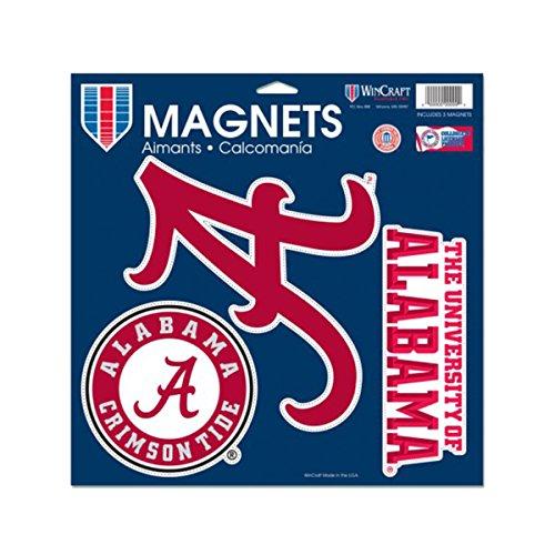 (WinCraft NCAA University of Alabama Vinyl Magnet, 11 x)