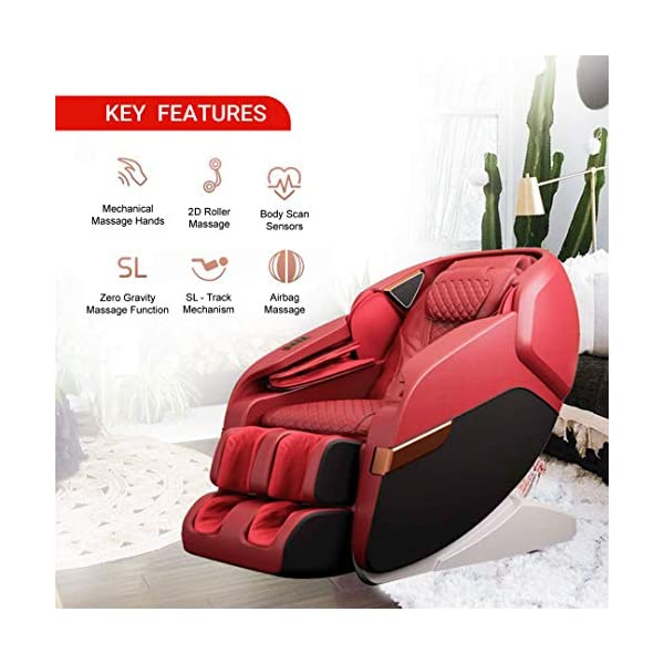 51dHoqhHJ4L Robotouch Echo Pro Full Body Massage Chair (Red)