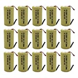 GEILIENERGY Sub C 2200mAh NiCd Rechargeable Battery for Power Tools with 10C Discharge Rate (w/ Tabs)(Pack of 15)
