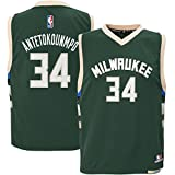 Giannis Antetokounmpo #34 Milwaukee Bucks Youth Road Jersey Green (Youth Medium 10/12)