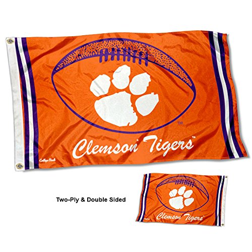 Clemson Tigers Vault Throwback Vintage Double Sided Flag (Tigers Vault)