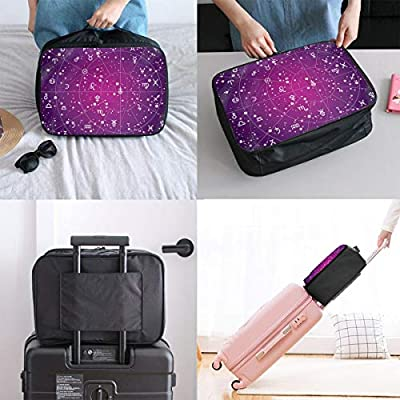 Travel Duffel Bag Waterproof Fashion Lightweight Large Capacity Portable Luggage Bag Constellation