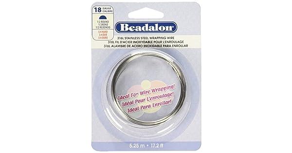 Amazon.com: Beadalon – Alambre Calibre 18 Acero Inoxidable ...