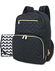 Fisher Price Diaper Bag Backpack - Signature Collection, with Cell Phone and Tablet Pockets and Stroller Clips