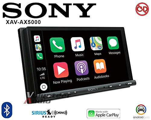"Sony XAV-AX5000 6.95"" CarPlay/Android Auto Media Receiver with BLUETOOTH"